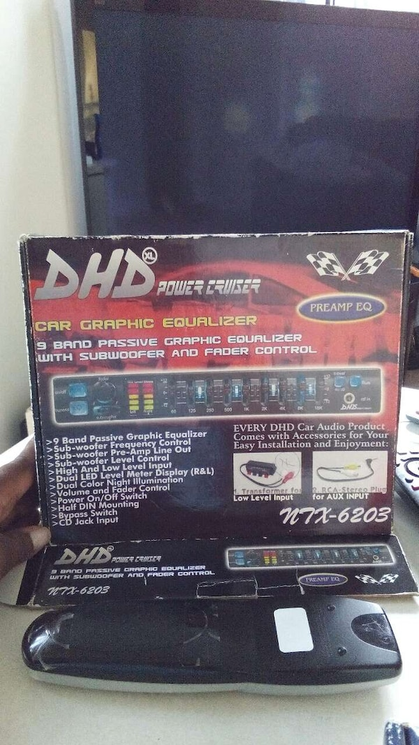 dhd power cruiser car graphic equalizer