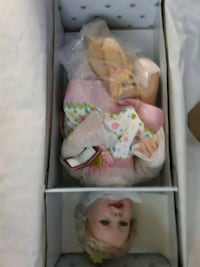 white and pink dressed doll in box Mission, 78572