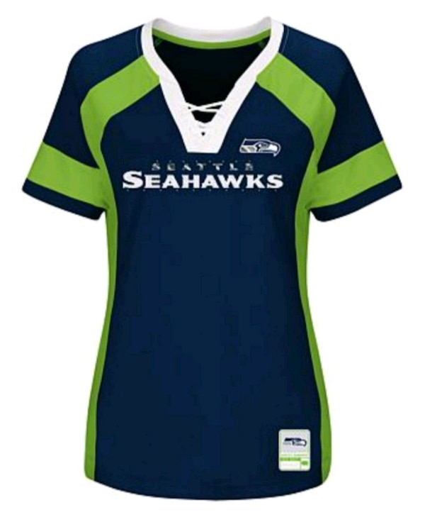 new arrival 6bbef 2bc4a Seattle Seahawks Women's Draft Me Bling Shirt