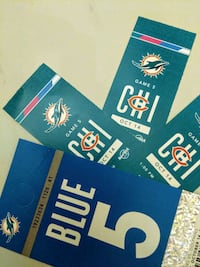 3 tickets to the Dolphins vs. Bears game Fort Myers, 33908