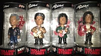 four Rolling Stones bobble head packs