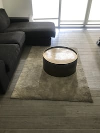 Westelm round metallic coffee table  MIAMI