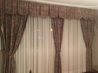 brown and white window curtain Montreal, H1E 6J3