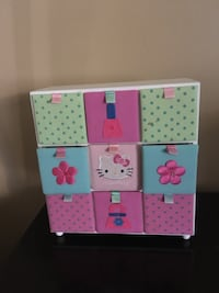 pink, blue, and green wooden cube organizer Hollywood, 33021