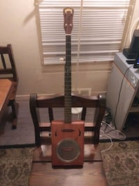 Custom Electric cigar box guitar banjo