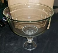 Heavy Handmade Clear Footed Glass Lancaster, 93534