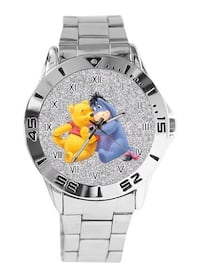 Winnie the Pooh Custom Casual Stainless Steel Band Dress Wrist Watch Brownsboro, 75756