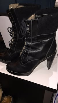 Cole Haan Black Lace up Heeled Boots Toronto, M1J