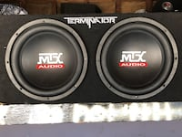 black MTX Audio subwoofer speaker 2261 mi