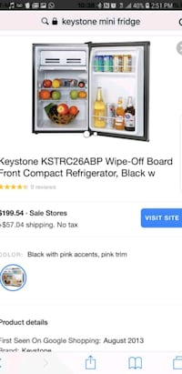 Keystone mini fridge  McAllen, 78501