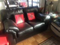 Black leather 2 seat sofa  Friendship Heights, 20815