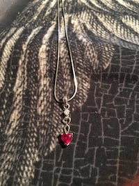 Ruby and Diamond heart necklace  3532 km