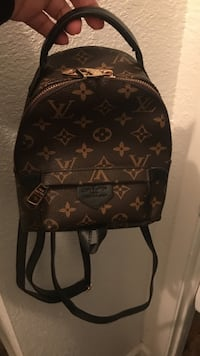 Black and brown louis vuitton leather backpack San Antonio, 78239