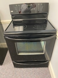 KENMORE ELITE GLASS TOP STOVE w/ convection oven & bottom warmer draw