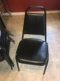 Black leather chairs (6 total) Junction City, 97448