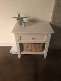 white wooden single-drawer side table Washington, 20024