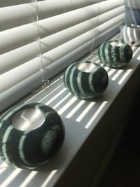 Green marble candle holders Toronto, M6E 4K4