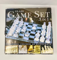 3 in 1 Glass Chess, Checkers, & Backgammon Toronto, M1P 4V9