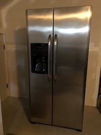 Silver side-by-side refrigerator Corman Park No. 344, S0K 4S1