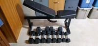 Rubber hex dumbbells  Cambridge