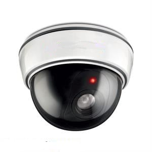 Dummy Dome Security Camera with Flashing  LED Light