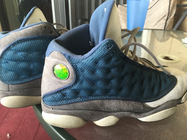 great fit 976c3 edeea Green and gray air jordan 13s. 11 1/2