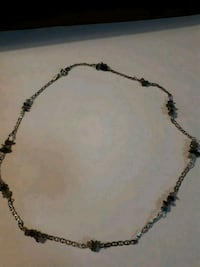 Sterling silver necklace with natural dtones Edmonton, T5S 2B4