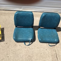 two black leather padded chairs Fargo, 58103
