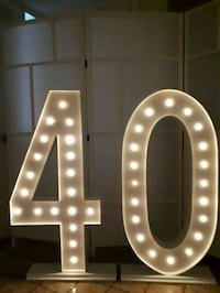 MARQUEE NUMBERS WITH LIGHTS 4ft Tall $50 Rental Vaughan