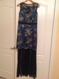 Blue golden black dress size M 558 km