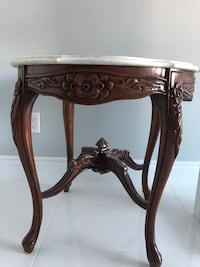 brown wooden side table with mirror Montréal, H1E 3Y5