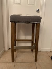 GREY UPHOLSTERED STOOL 29 INCHES TALL Stockton, 95212
