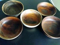 four round brown ceramic bowls Sacramento, 95824