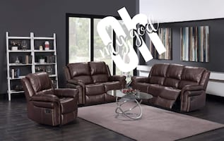 New brown color sofa and lovseat recliner set