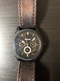 Fossil black watch with brown leathe Toronto, M6N 0A3
