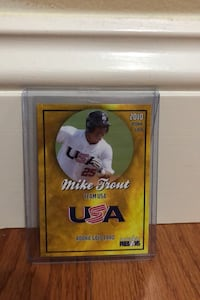 2010 Mike Trout Gold USA Rookie Card Manassas, 20112