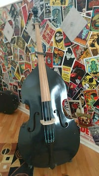 Double Bass with cloth case, bow and stand