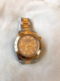 Silver and Gold Rolex Oyster Perpetual Daytona Fremont