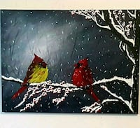 24x18 inches cardinals acrylic painting  Mississauga, L5M 3G6