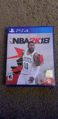 PS4 NBA 2K18 game case Tyler, 75701