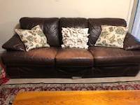 brown leather 3-seat sofa Derwood, 20855