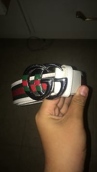 White and red gucci leather belt Winnipeg, R2R 0T3