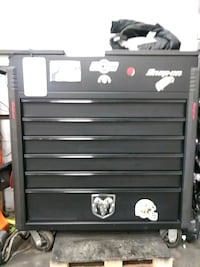 black and gray tool cabinet 730 mi