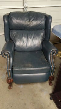 Real Leather Recliner Aubrey, 76227