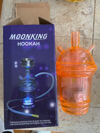 Portable to go hookah led cups