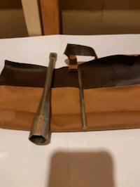 Old tool in leather case