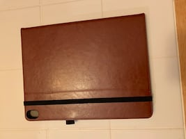 Latest 12.9 iPad case brown leather