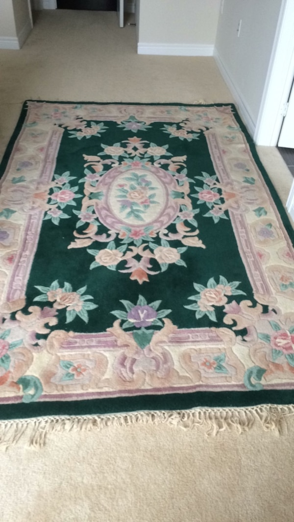 """Area rug. Nice clean. Washed. No stain  size 5"""" x8"""""""