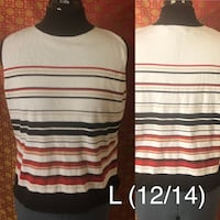 White, black, and red striped shirt  El Paso, 79934