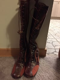 pair of brown leather cowboy boots Rockville, 20852